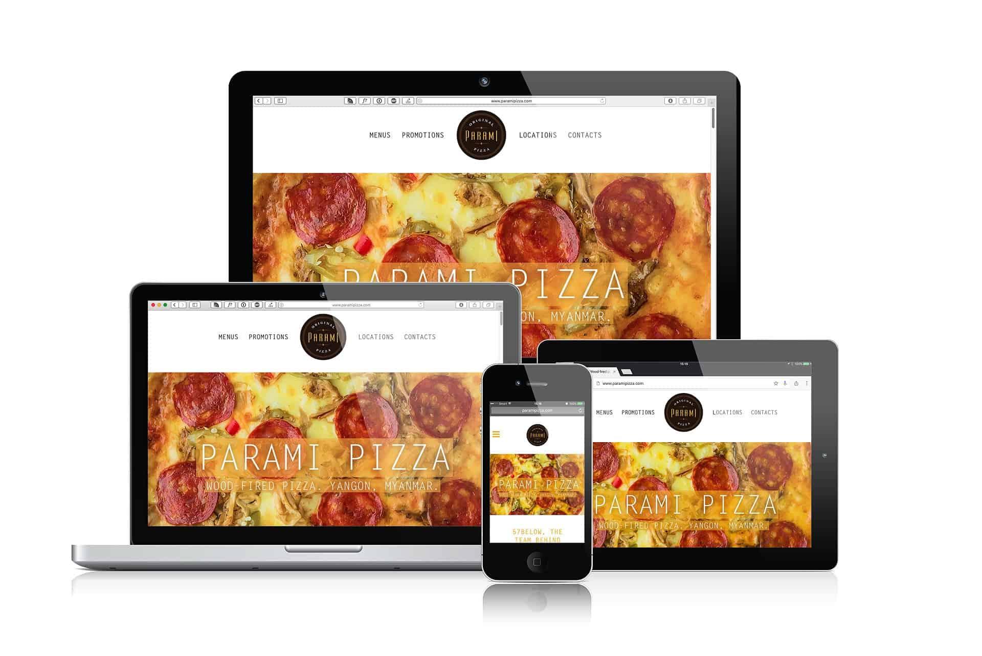 Parami Pizza, Myanmar (Burma) Website. Web Design & Development by Grantourismo Media, a Full Service Digital Media Agency.